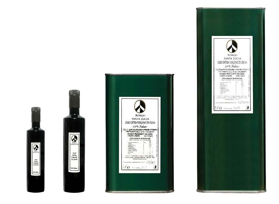 borgo santa lucia oil bottles